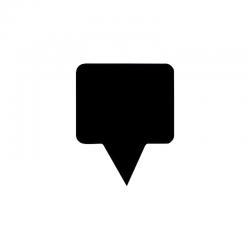 Etiquette pour plateau pvc noir rectangulaire 5,5x3