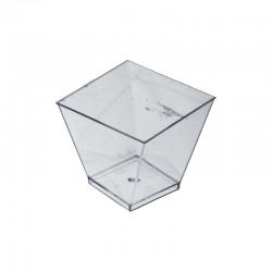 Verrine en plastique transparent