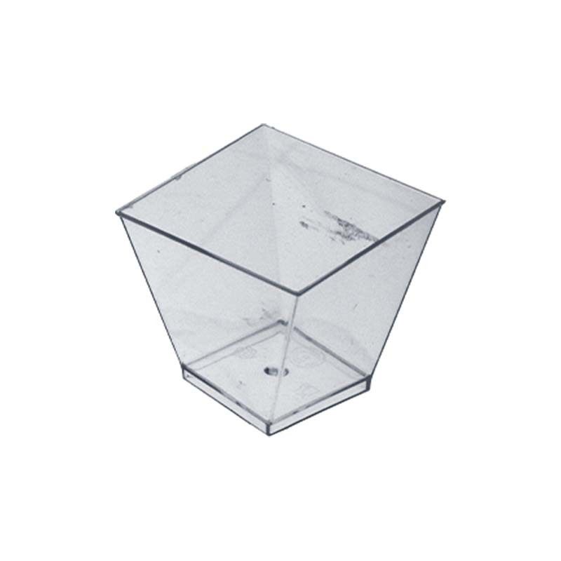 Verrine en plastique transparent
