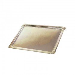 Plateau traiteur carton or