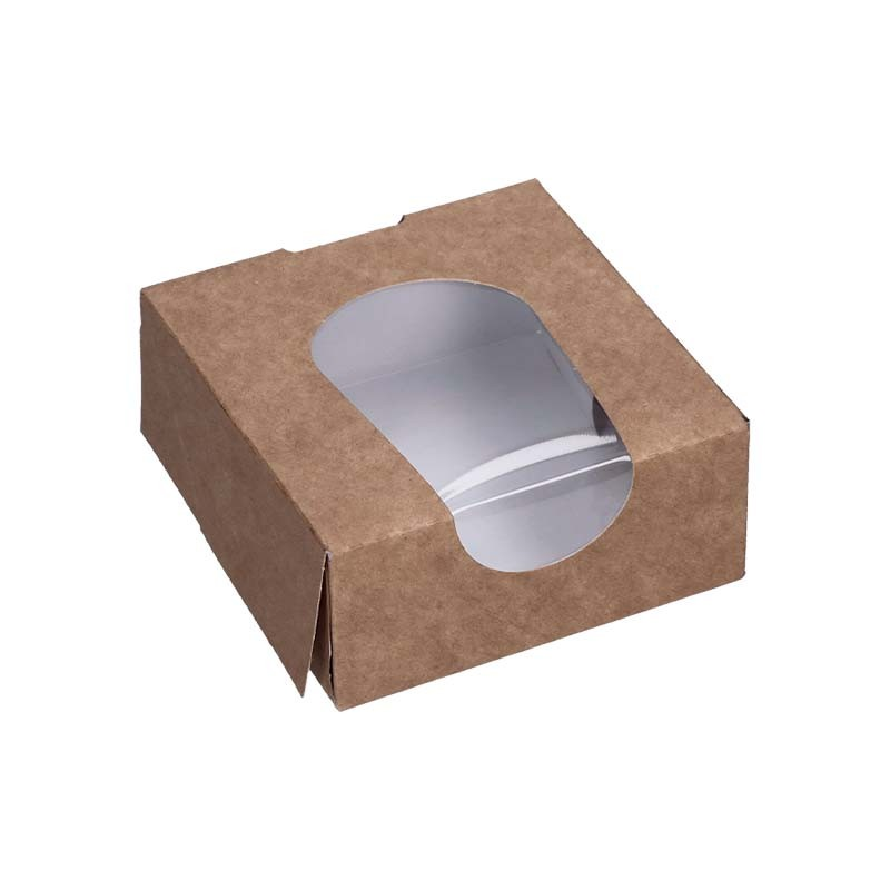 Boite snacking en carton avec fenêtre