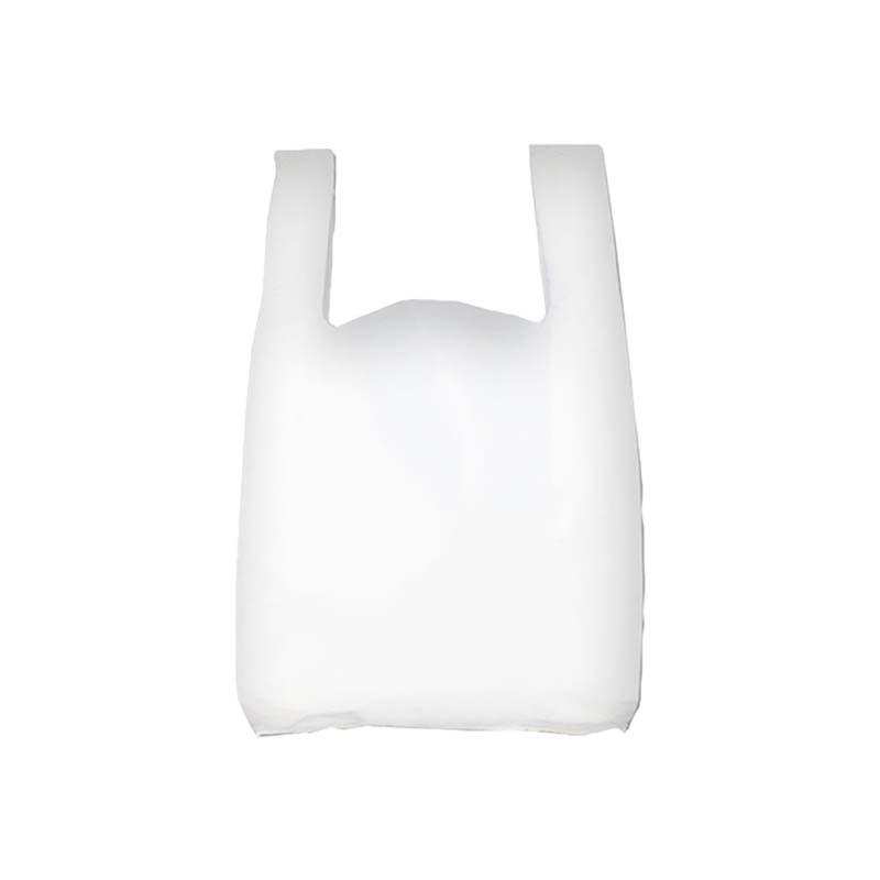 Sac plastique bretelles blanc