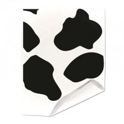 Papier duplex paputyl blanc motif taches de vache
