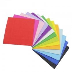 Serviettes colorée deux plis
