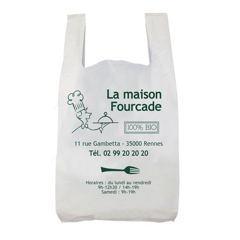 sac à bretelles en plastique blanc 100% recyclé