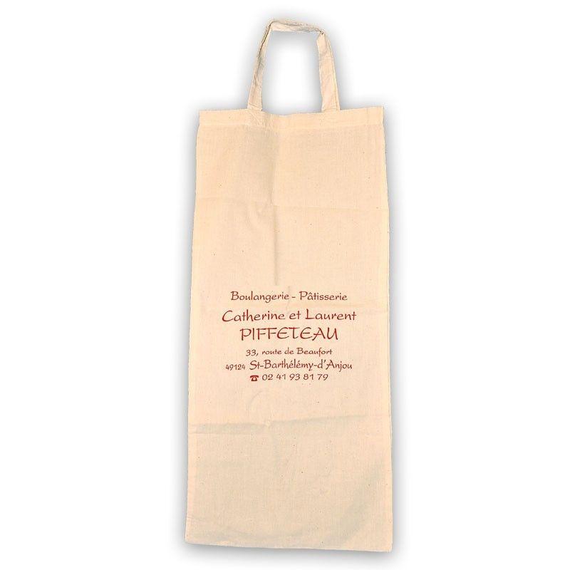 Sac à pain personnalisable en coton beige