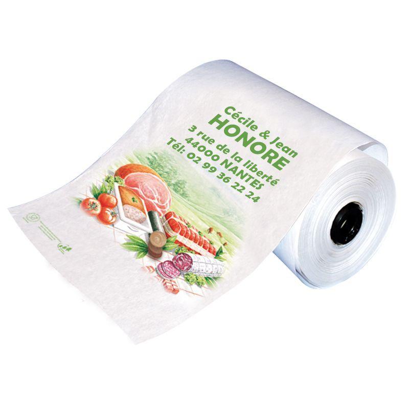Rouleau papier boucherie personnalisable