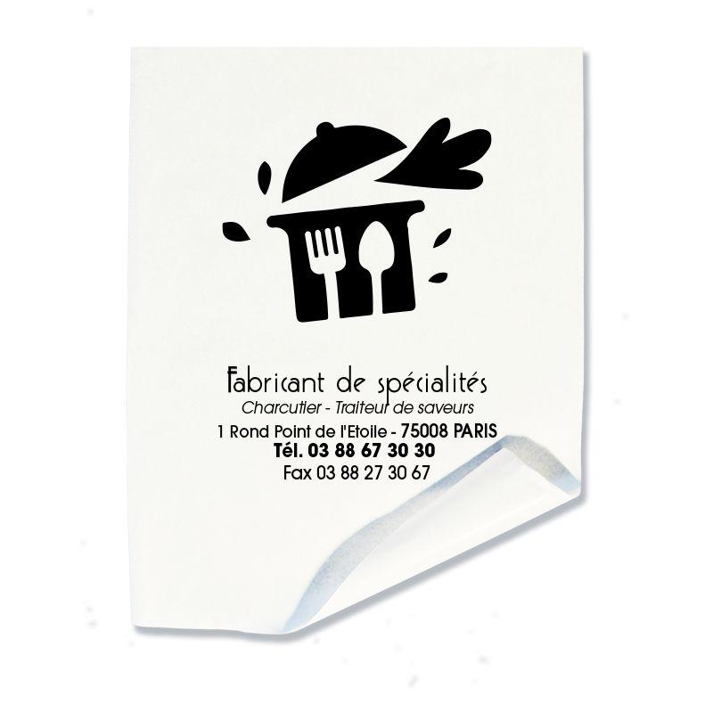 Papier alimentaire thermosoudable personnalisable blanc 32x50