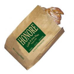 Sac à pain papier personnalisé 20x9x29 cm