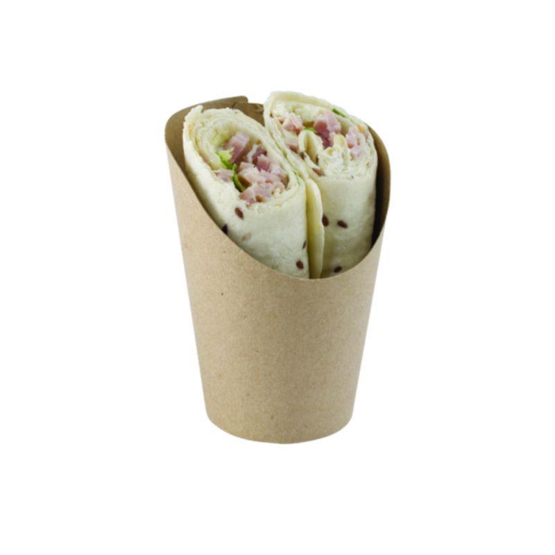 Pot kraft brun wrap