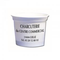 Boîte plastique alimentaire ronde avec couvercle 50 cl