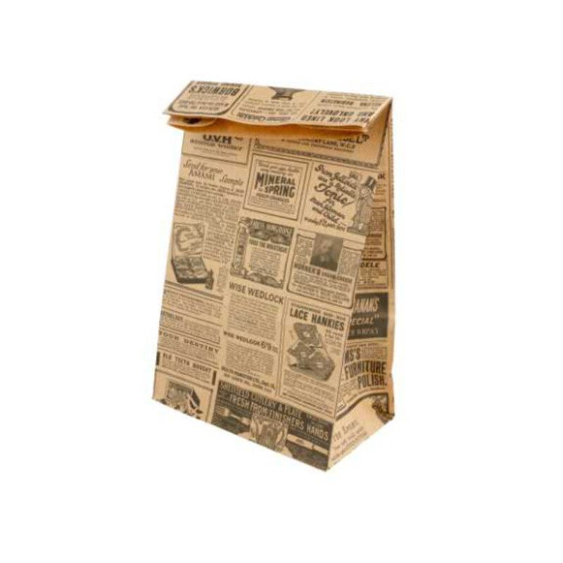 Sac papier SOS kraft brun journal