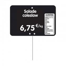 Étiquette prix PVC personnalisée