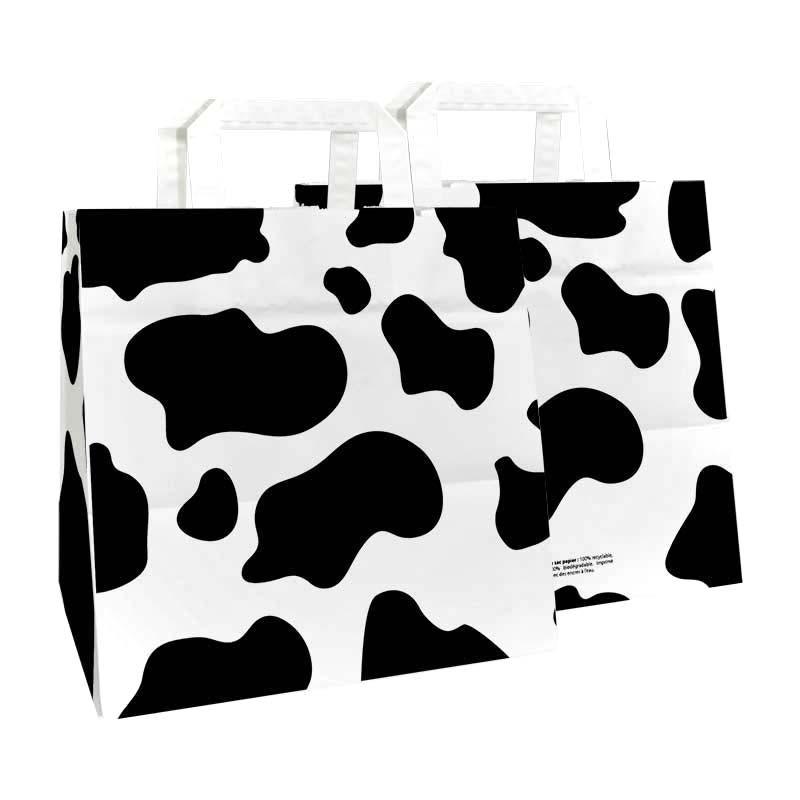 Sac kraft p.plates tâches de vache