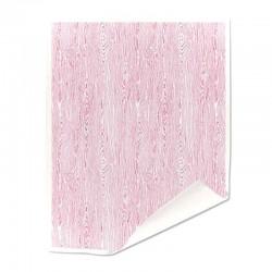Papier duplex double double blanc motif trame bois rose