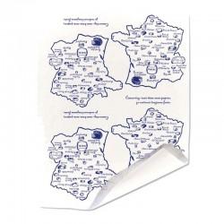 Papier duplex paputyl blanc motif carte de France