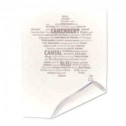 Papier duplex paputyl blanc motif France des fromages taupe