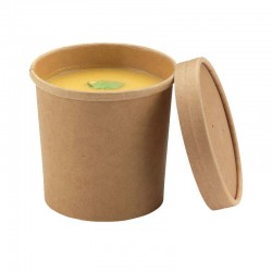 Pot carton brun micro-ondable recyclable