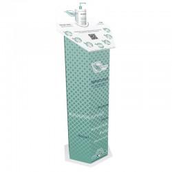 Totem distributeur de gel hydroalcoolique (livré avec 6 bouteilles de 480ml)