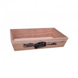 Corbeille de présentation en bois rectangle