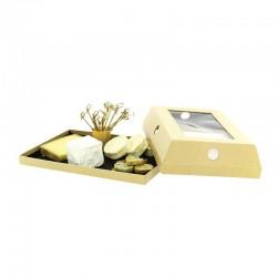 Plateau fromage en carton et couvercle cloche