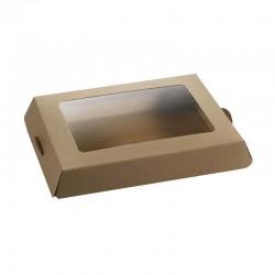 Plateau à fromage en carton enduit avec couvercle