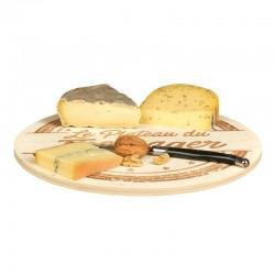 Plateau fromage en bois motif Le plateau du fromager