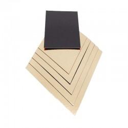 Carton contact alimentaire pour plateau bois rectangle