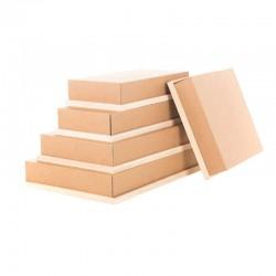 Couvercle carton pour plateau bois rectangle
