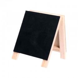 Chevalet mini ardoise 2 faces - 10x14 cm