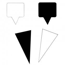 Etiquette pique plastique rectangulaire ou triangulaire