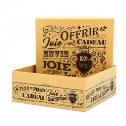 Boite en carton carrée