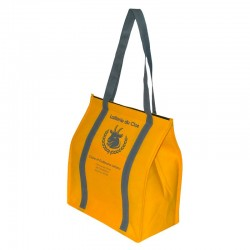 Sac isotherme jaune - Personnalisable - 31,5 x 17 x 35 cm