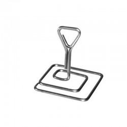 Support étiquette prix en inox pour fromager 5 cm