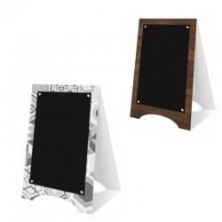Mini chevalet de table en polystyrène motif bois ou céramique