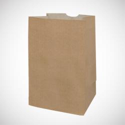 Sac papier sos kraft brun 65g 22+14x38
