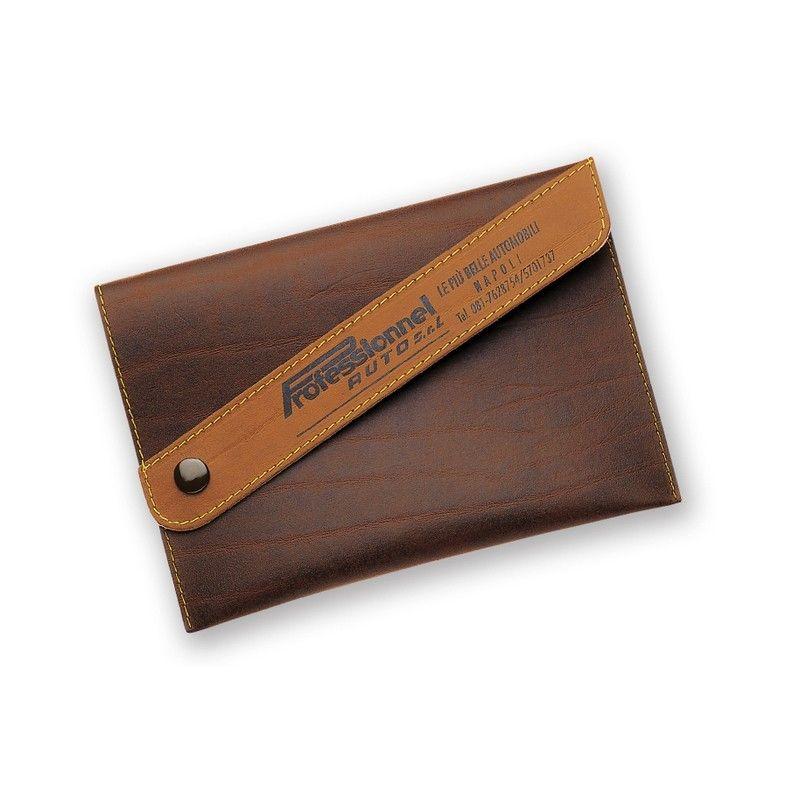 Porte carte grise en simili-cuir regenere