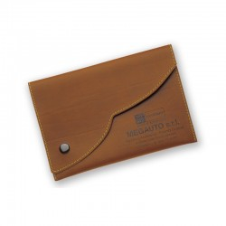 Porte carte grise en simili-cuir regenere fermeture nuage