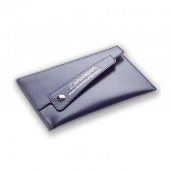 Porte carte grise fermeture similicuir pochette centre
