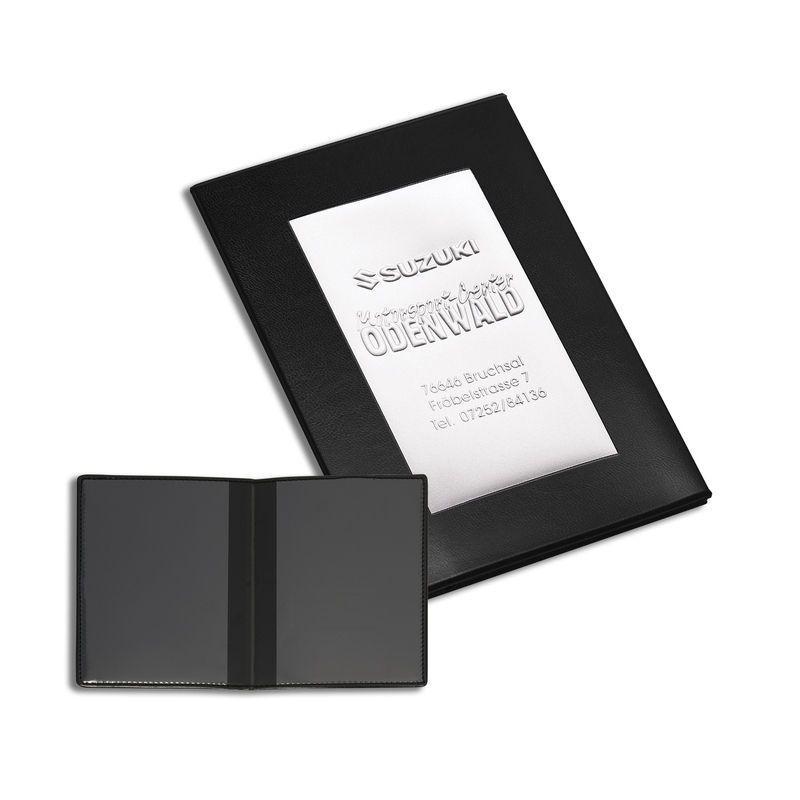 Porte carte grise thermosoudé pvc standard effet carbone classico