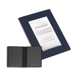 Porte carte grise thermosoudé pvc standard effet serge classico