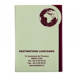 Couverture Passeport GLOBE PVC RECYCLABLE 30/100ème