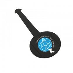 Porte-étiquettes ROND - Patte normale - diamètre 82 mm PVC RECYCLABLE GOMME