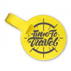 Porte-étiquettes ROND - Patte normale-diamètre 92mm - PVC RECYCLABLE GOMME
