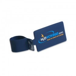 Porte étiquettes RECTANGULAIRE 60x100mm PVC RECYCLABLE GOMME