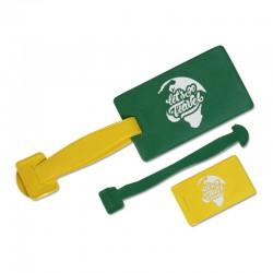 Porte-étiquettes 2 PARTIES RECTANGULAIRE PVC RECYCLABLE 30/100ème