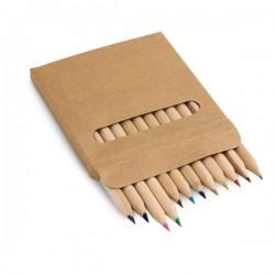 COLOURED. Boîte avec 12 crayons de couleur