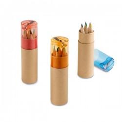 ROLS. Boîte avec 6 crayons de couleur