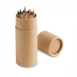 CYLINDER. Boîte avec 12 crayons de couleur