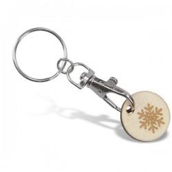 Porte-clés jeton classique avec jeton bois
